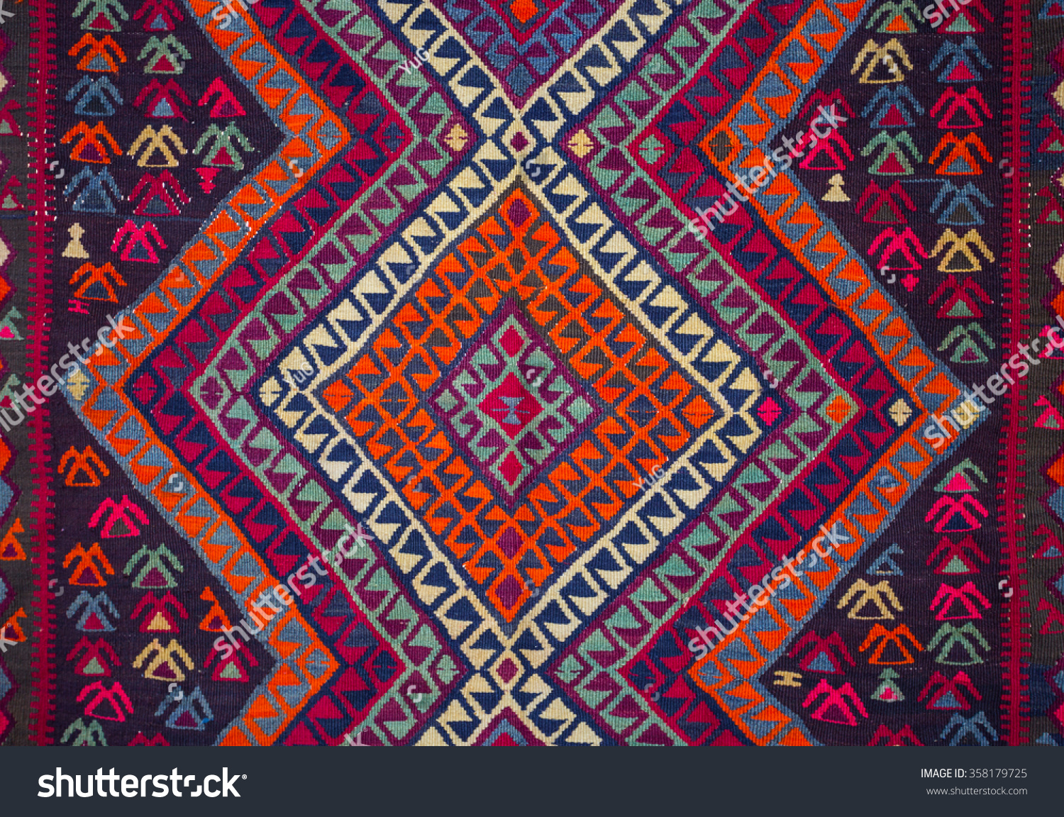 Carpet Patterns Armenian Detail With Traditional Ornaments And