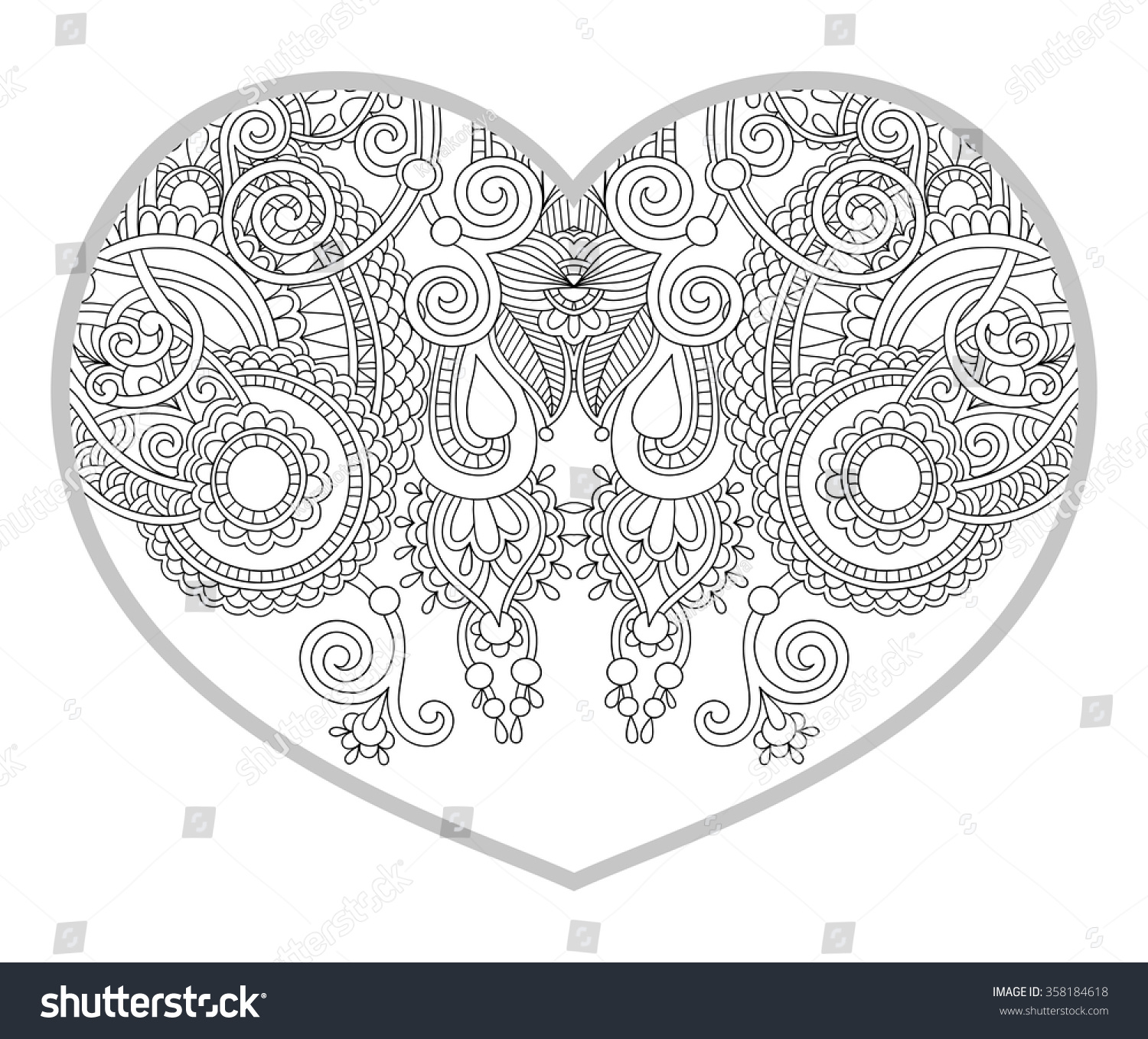 Gallery For gt Heart Patterns To Color