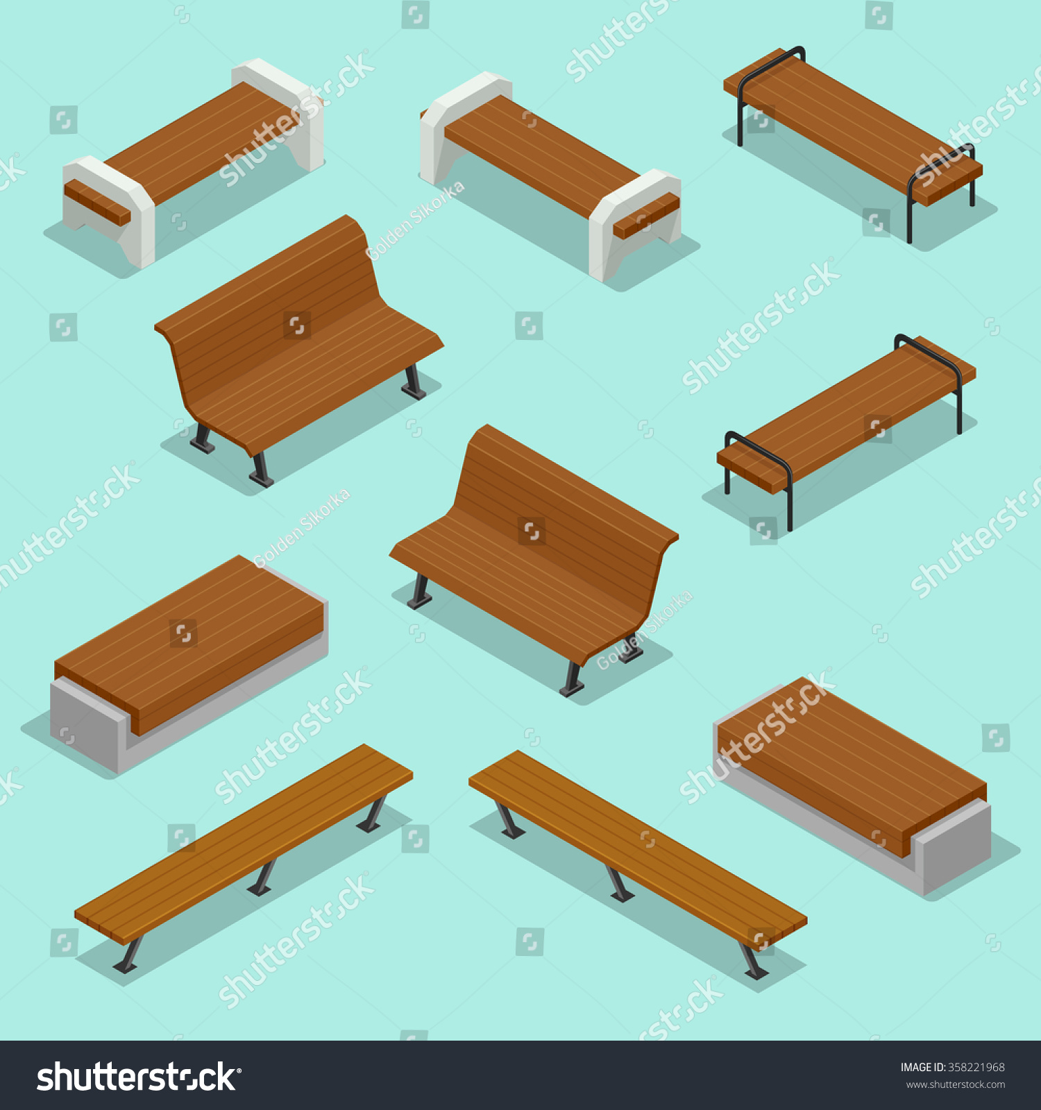 100 Wooden Bench Outdoor Bloomingville Straight  : stock vector outdoor park bench wooden bench isolated on background isometric vector illustration in flat 358221968 from 45.32.79.15 size 1500 x 1600 jpeg 443kB