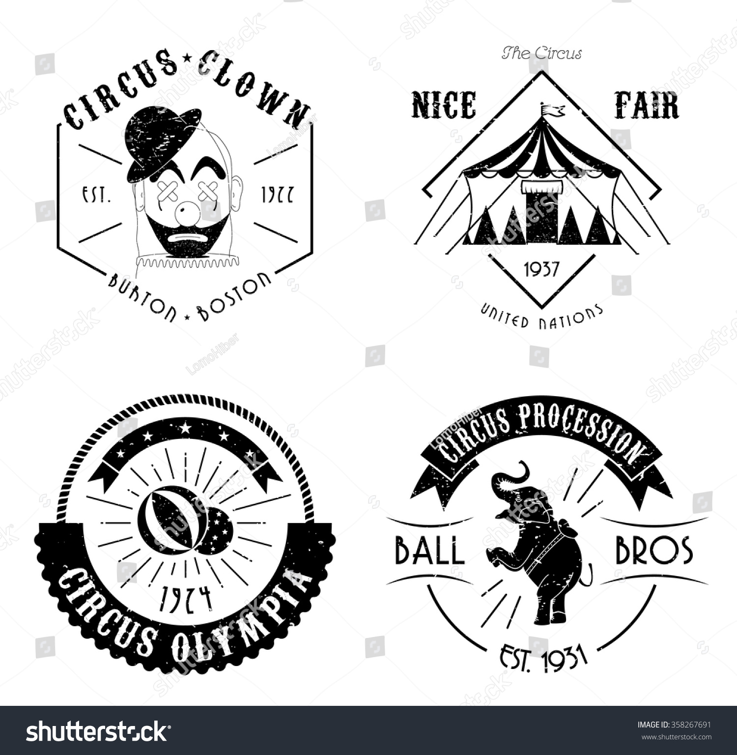 Vintage Circus Clown Retro Circus Clown PNG Image and