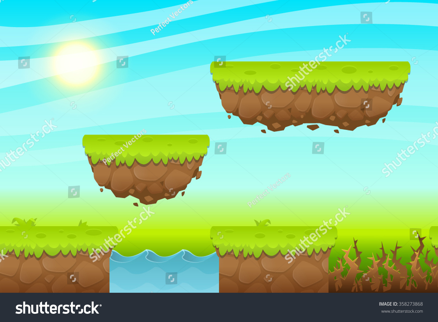 game background made seamless endless elements stock photo (photo