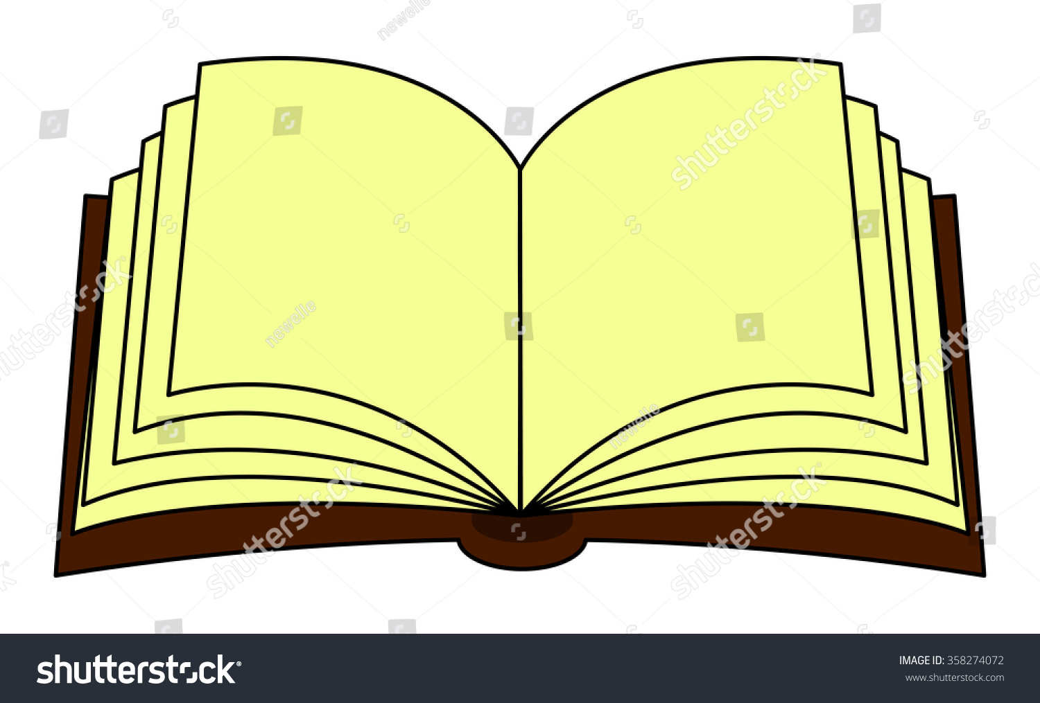 open book vector illustration on transparent stock vector (royalty