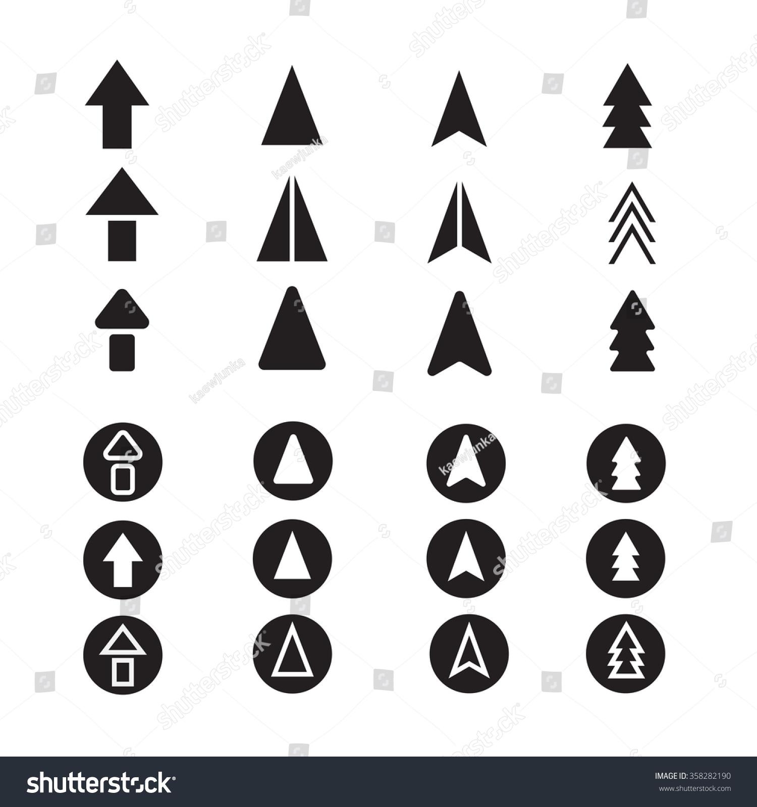 Arrow Icon Set Illustrator Stock Vector Royalty Free 358282190