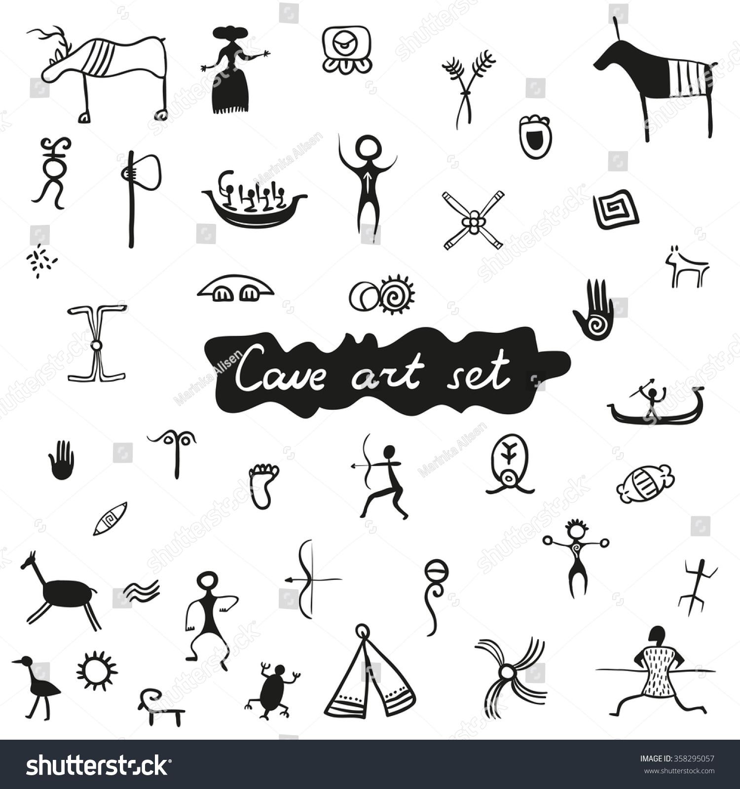 Native American Cave Art Symbols