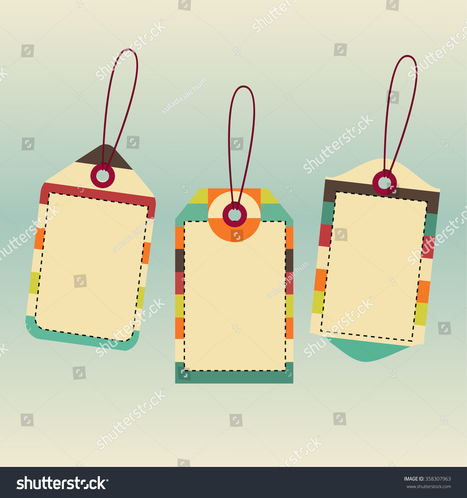 Price Tag Design Set Price Tags Stock Vector 358307963 - Shutterstock