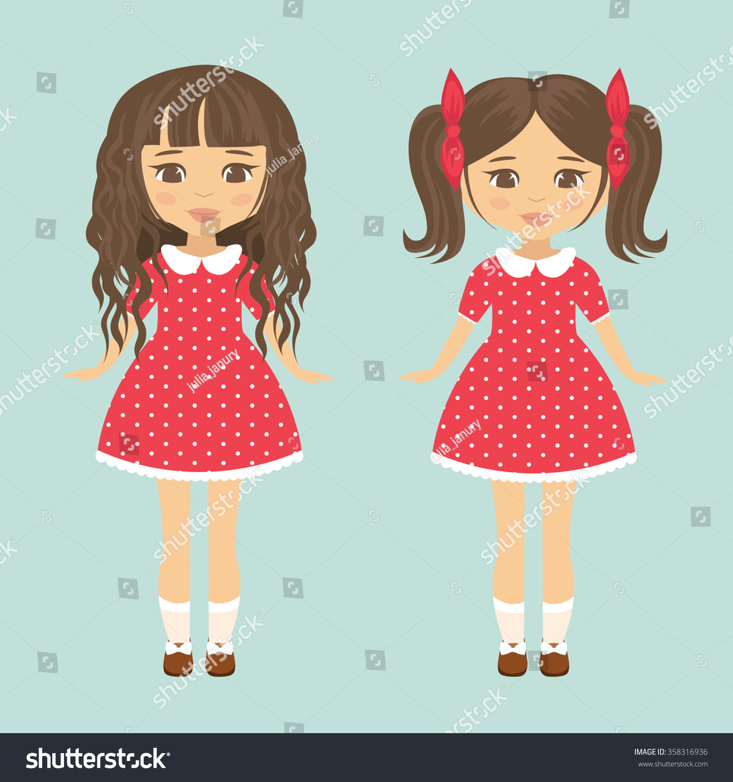 Little girl clipart graphics pigtail   Mujka Clipart, Printable, Characters  & Custom Graphic Design