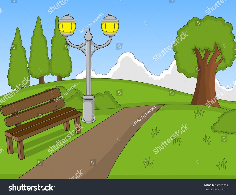 Park Cartoon Stock Illustration 358342388 - Shutterstock