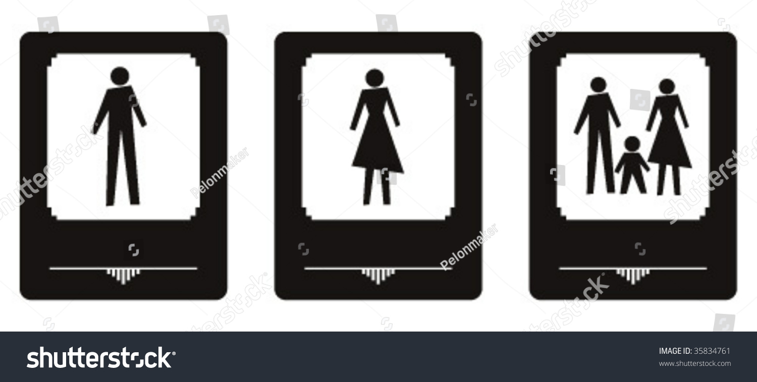 Bathroom Signs Vector art deco bathroom signs stock vector 35834761 - shutterstock