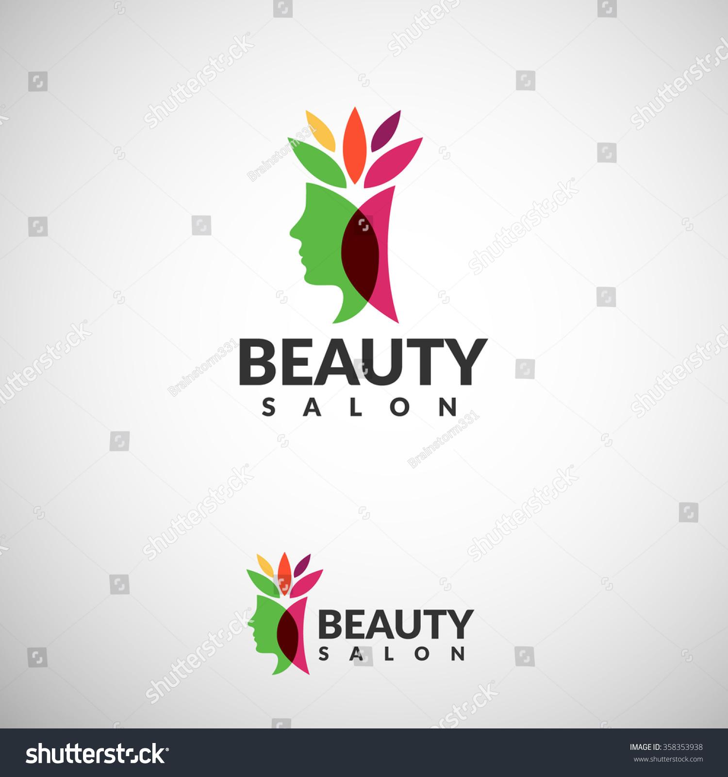 Womans face logo abstract design concept stock vector for Abstract beauty salon