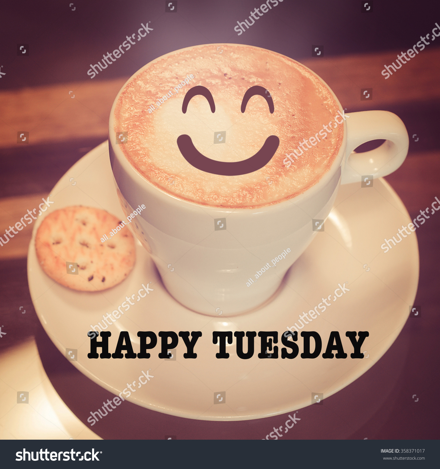 Royalty free happy tuesday with coffee cup on table 358371017 happy tuesday with coffee cup on table 358371017 geotapseo Gallery