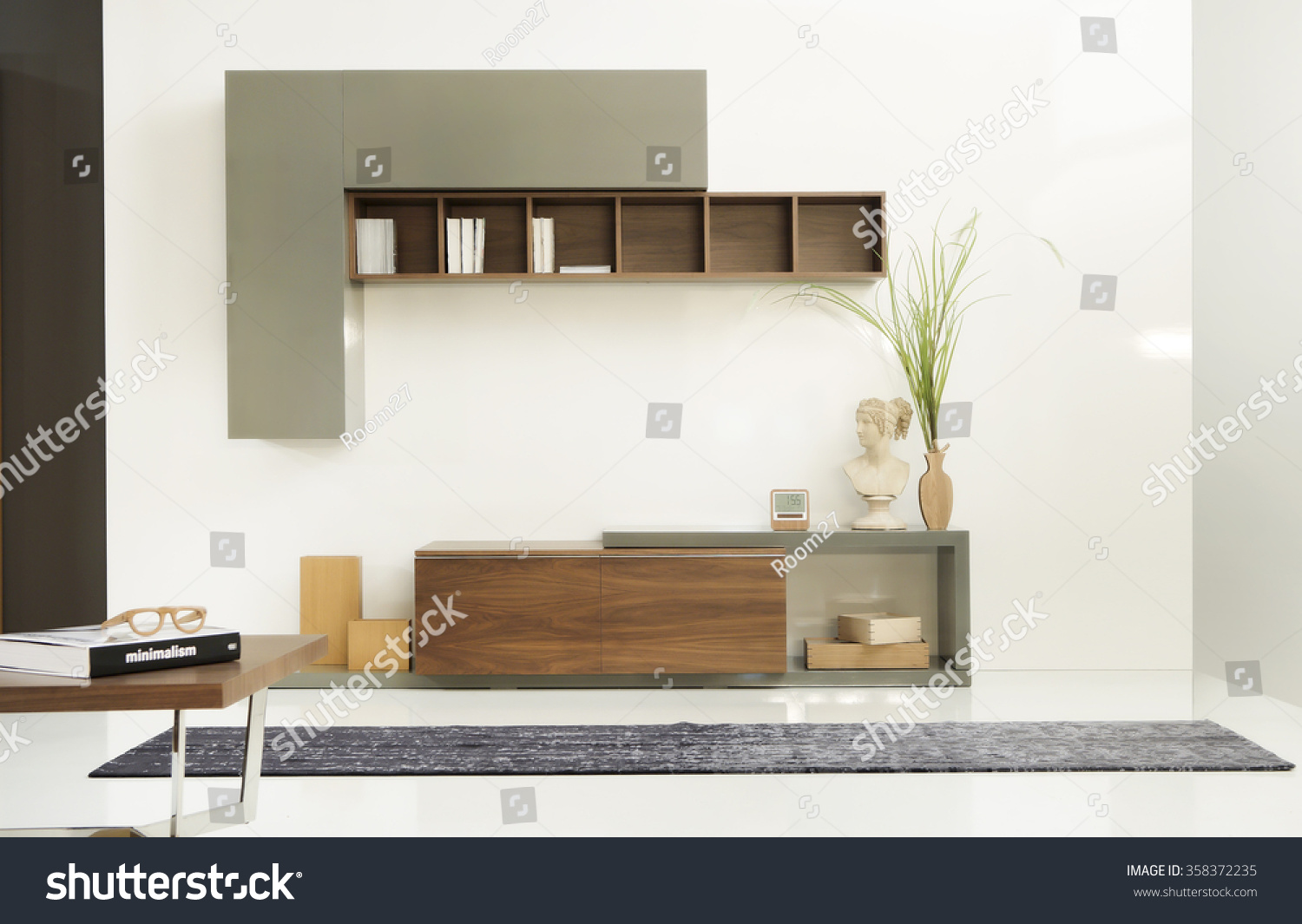 New furniture line modern design straight lines materials wood