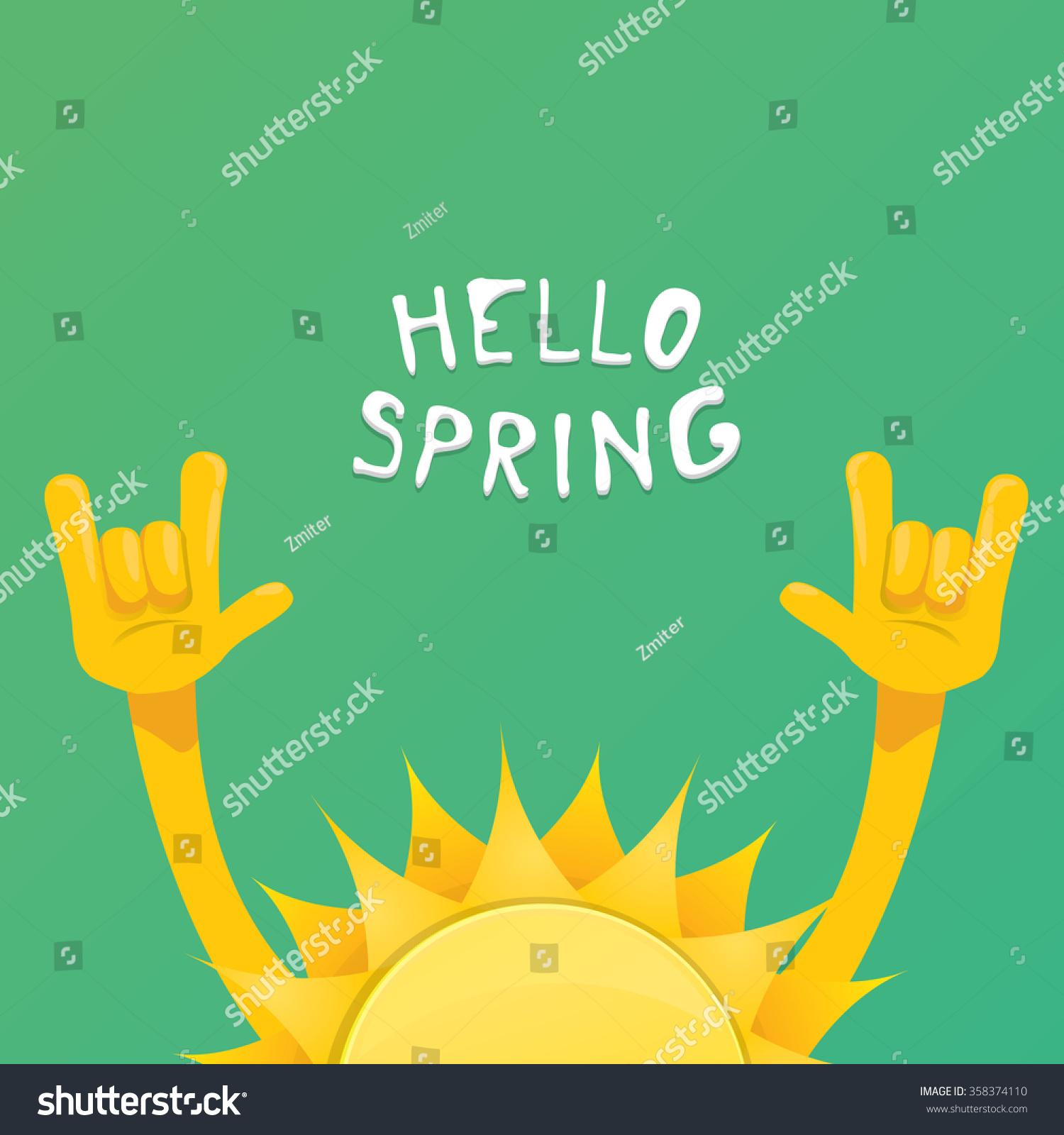 Rock n roll poster design - Sun Hand Rock N Roll Icon Vector Illustration Spring Or Summer Rock Concert Poster Design