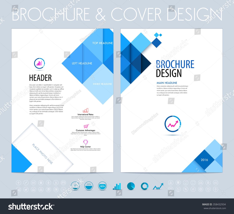 business brochure flyer booklet design layout stock vector 358432934 shutterstock. Black Bedroom Furniture Sets. Home Design Ideas