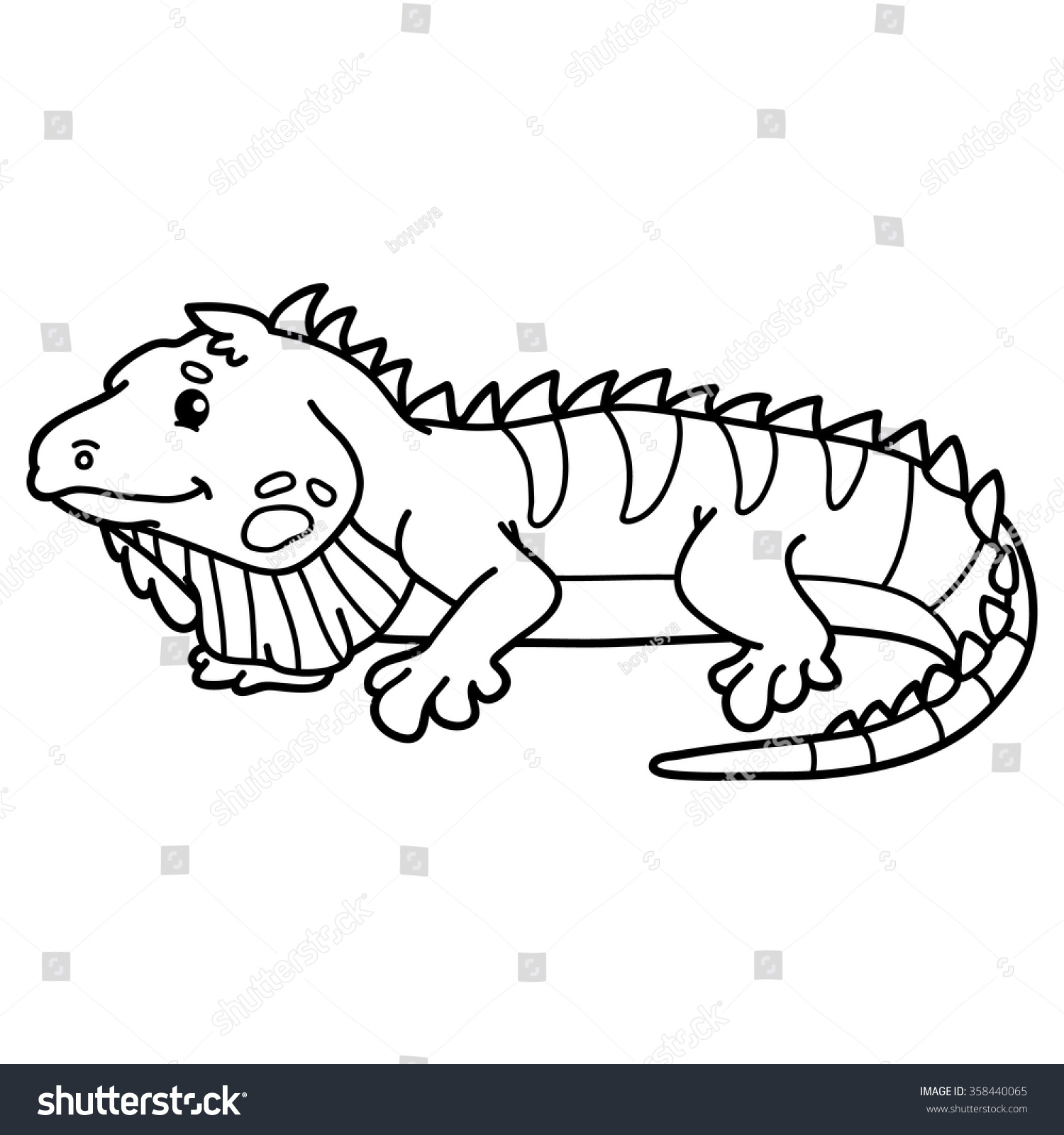 cute iguana coloring pages