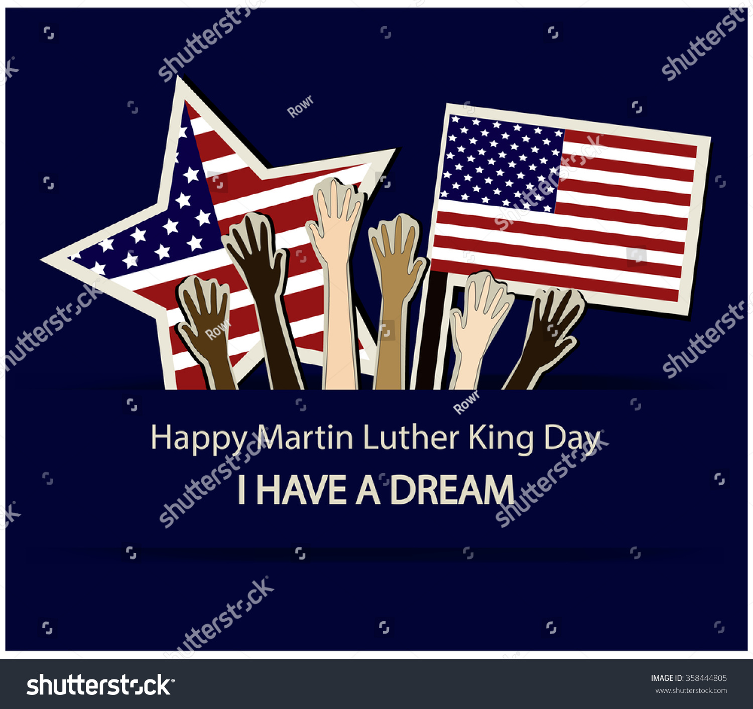 Happy Martin Luther King Day Card Stock Vector Royalty Free