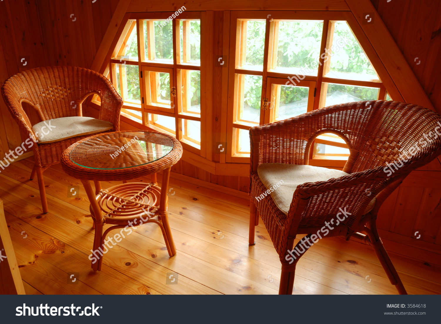 Patio Furniture Inside The House Stock Photo 3584618 Shutterstock