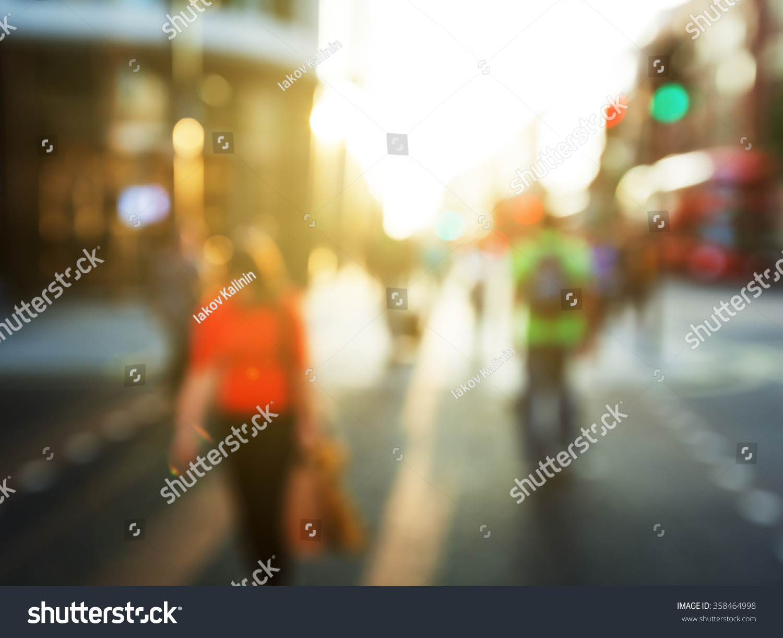 People In Bokeh, Street Of London Stock Photo 358464998 ...