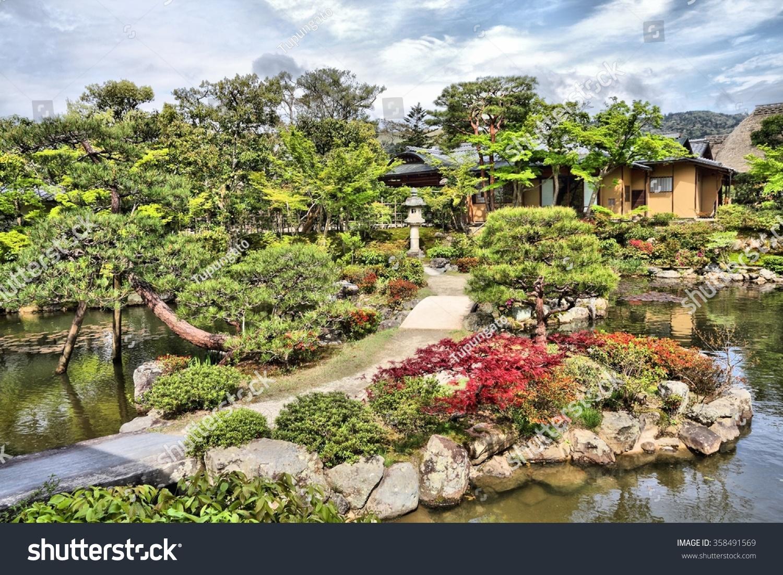 Nara, Japan - Isuien Garden. Japanese Style Garden. Stock ...