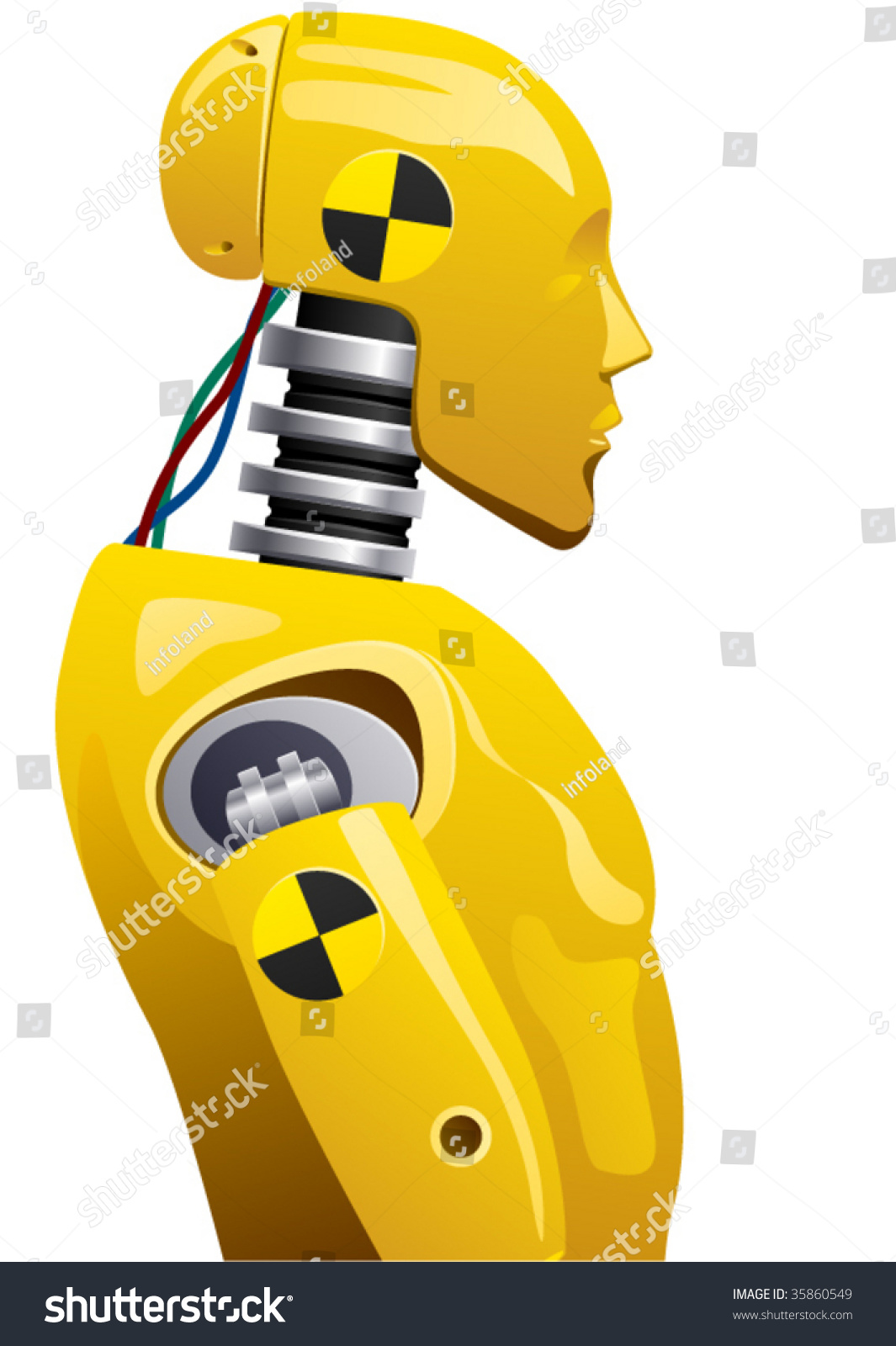 vector crashtest dummy stock vector 35860549 shutterstock