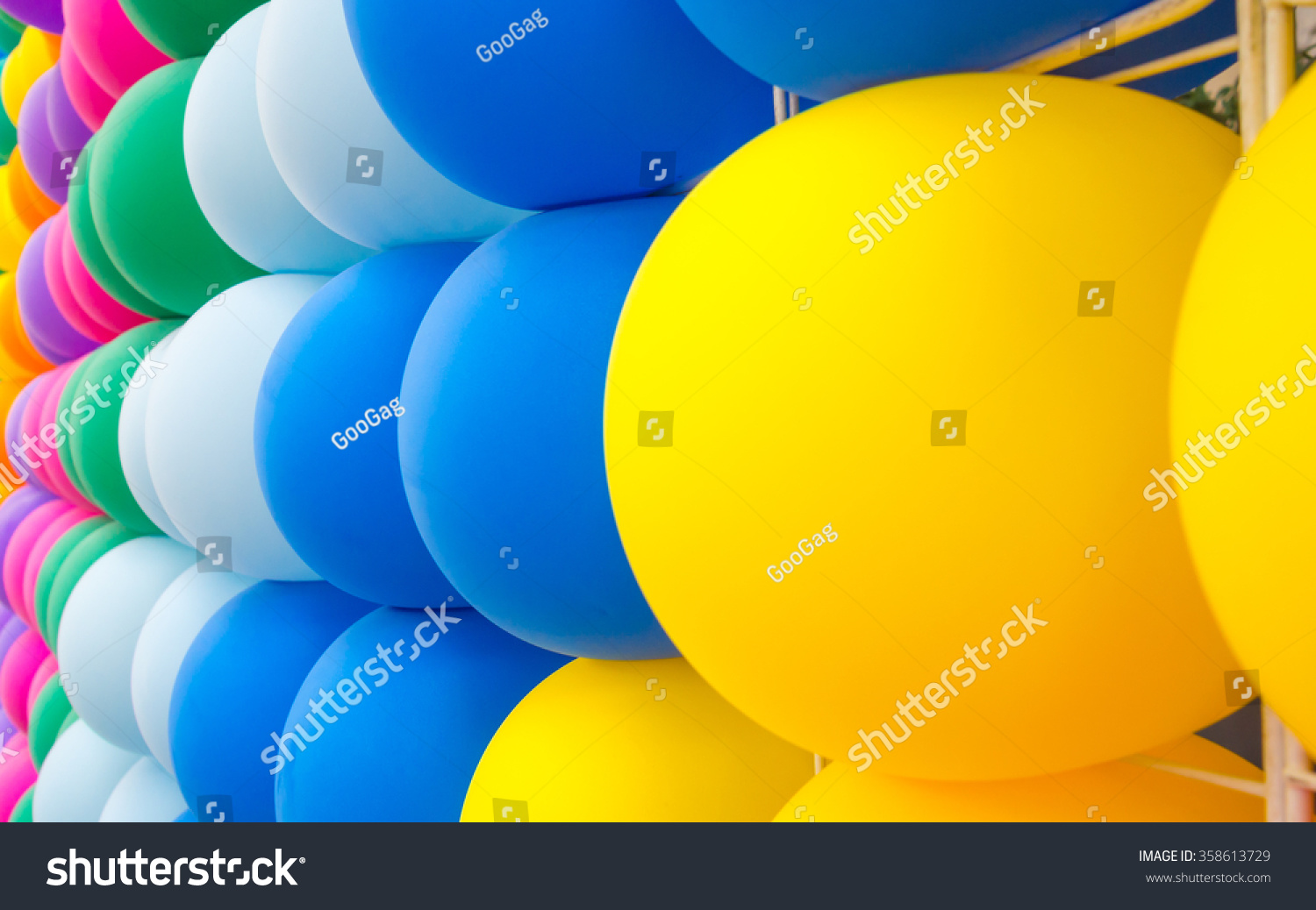Colorful Decorative Balloons Wall Background Backdrop Stock Photo ...
