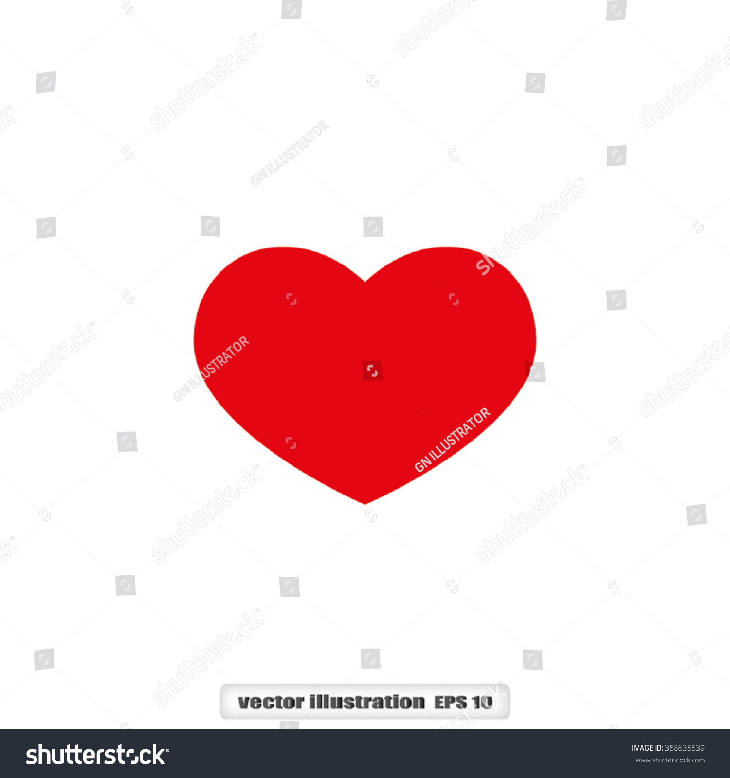 Perfect Shaped Red Heart Symbol That Represent Love And Deep