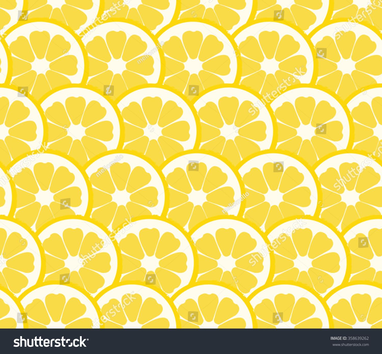 cute lemon orange slice design seamless pattern