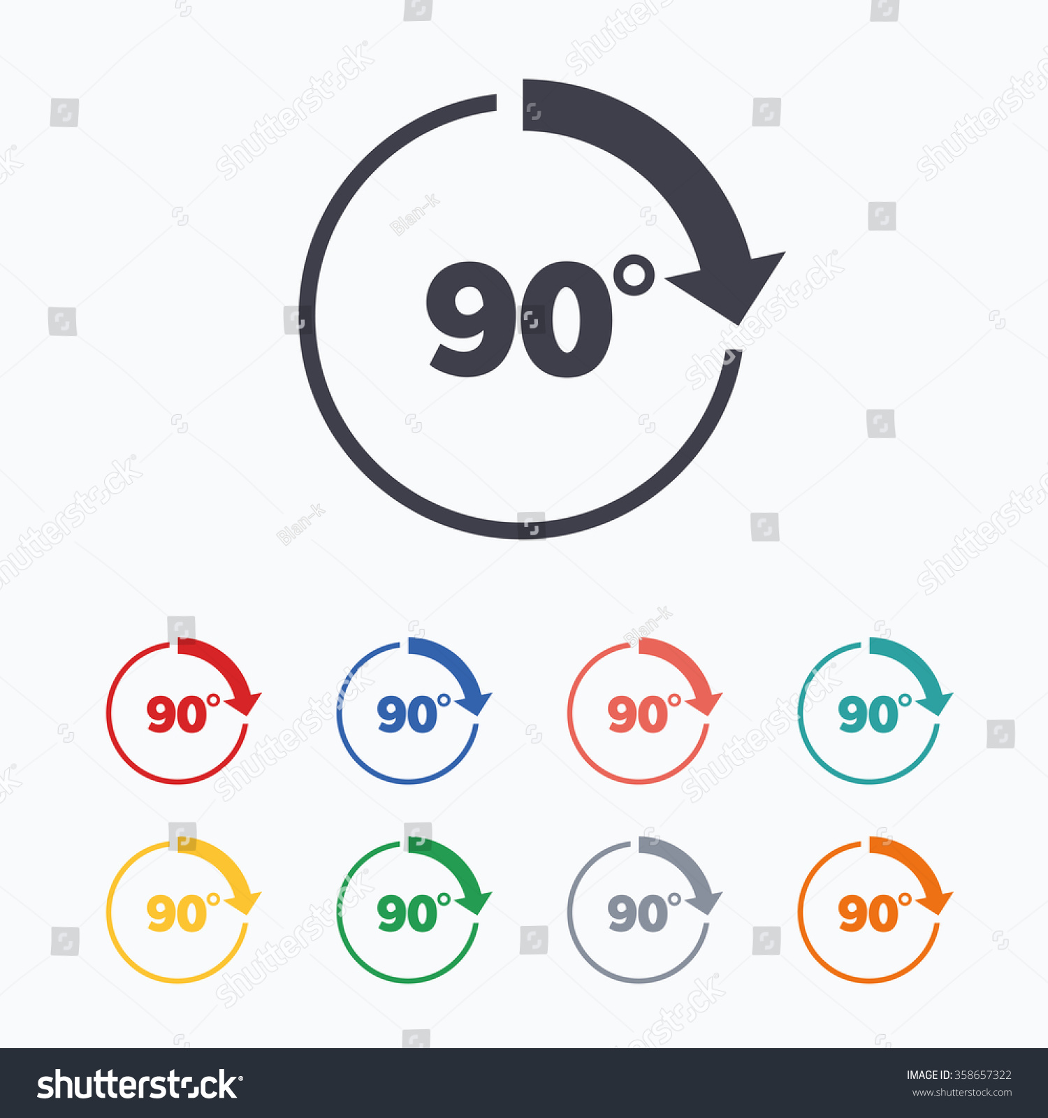 Background image rotate 90 - Angle 90 Degrees Sign Icon Geometry Math Symbol Right Angle Colored Flat Icons