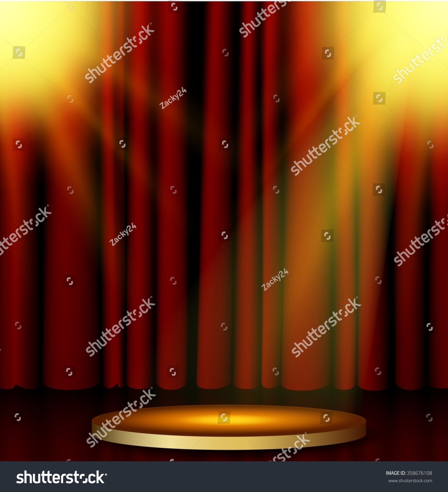 Stage curtains spotlight - Stage Lighting Background With Spotlight Effects