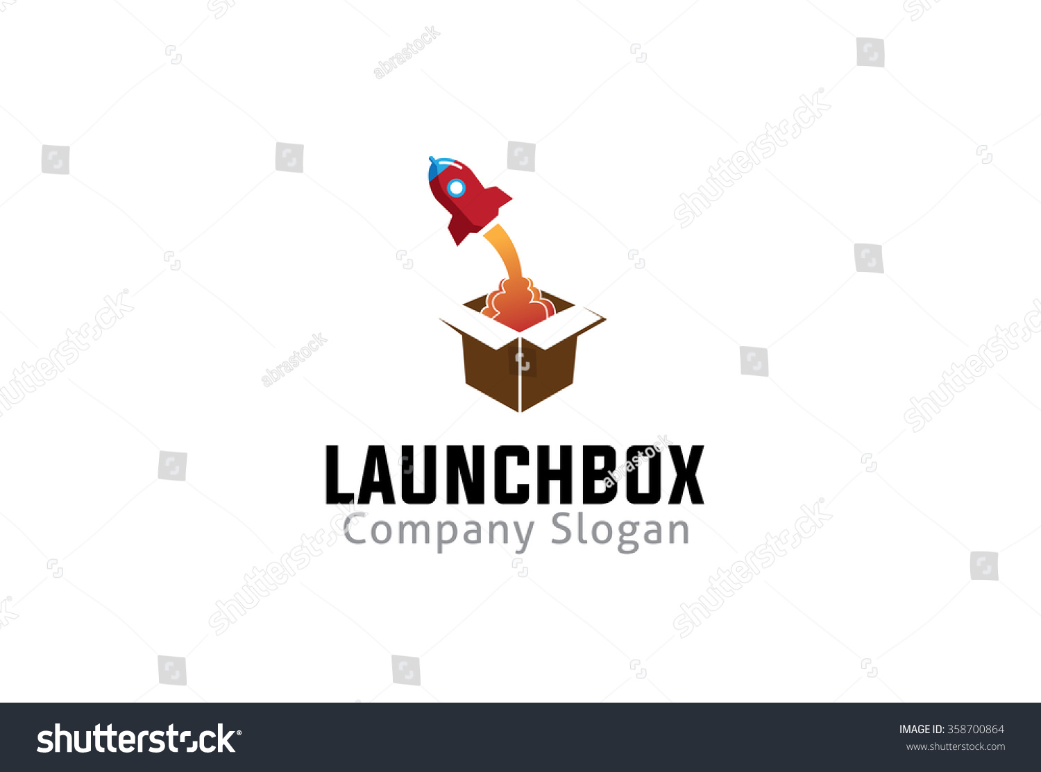 Launch Box Logo Symbol Design… Stock Photo 358700864