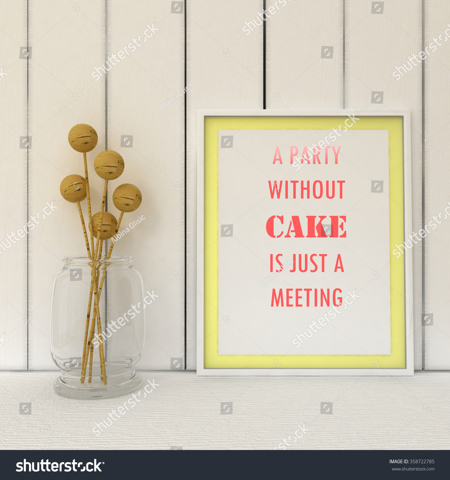 motivation words party without cake just stock illustration