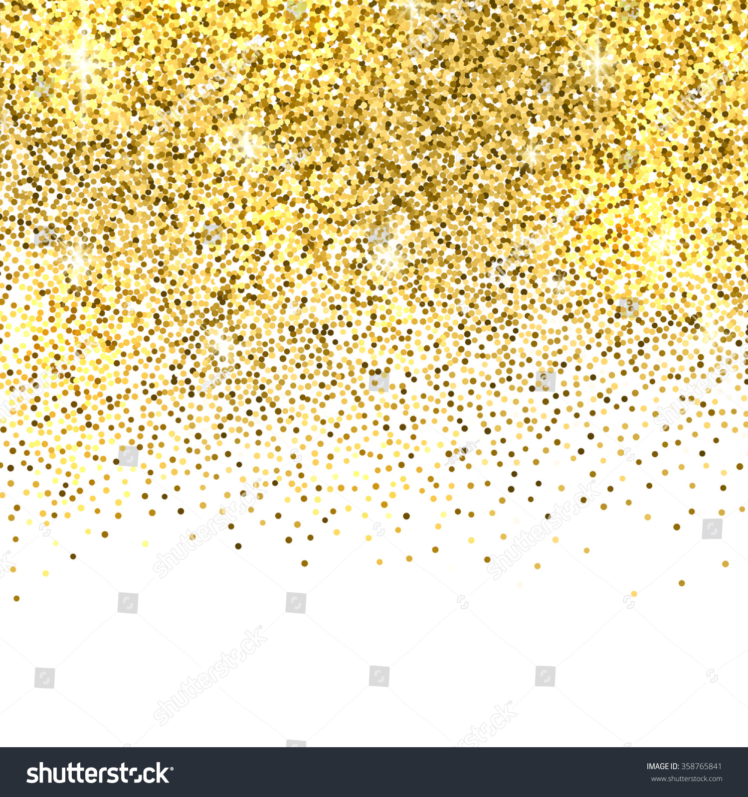 White And Gold Bedroom With Gray Bedding: Gold Sparkles On White Background Gold Stock Vector