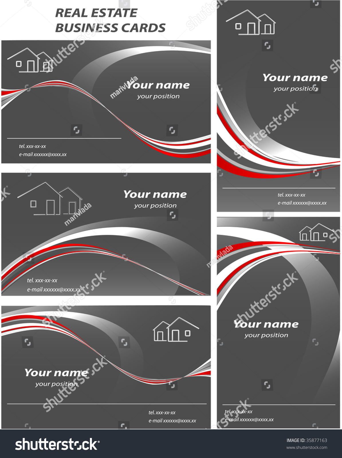 Set Templates Business Cards Elements Design Stock Vector HD ...