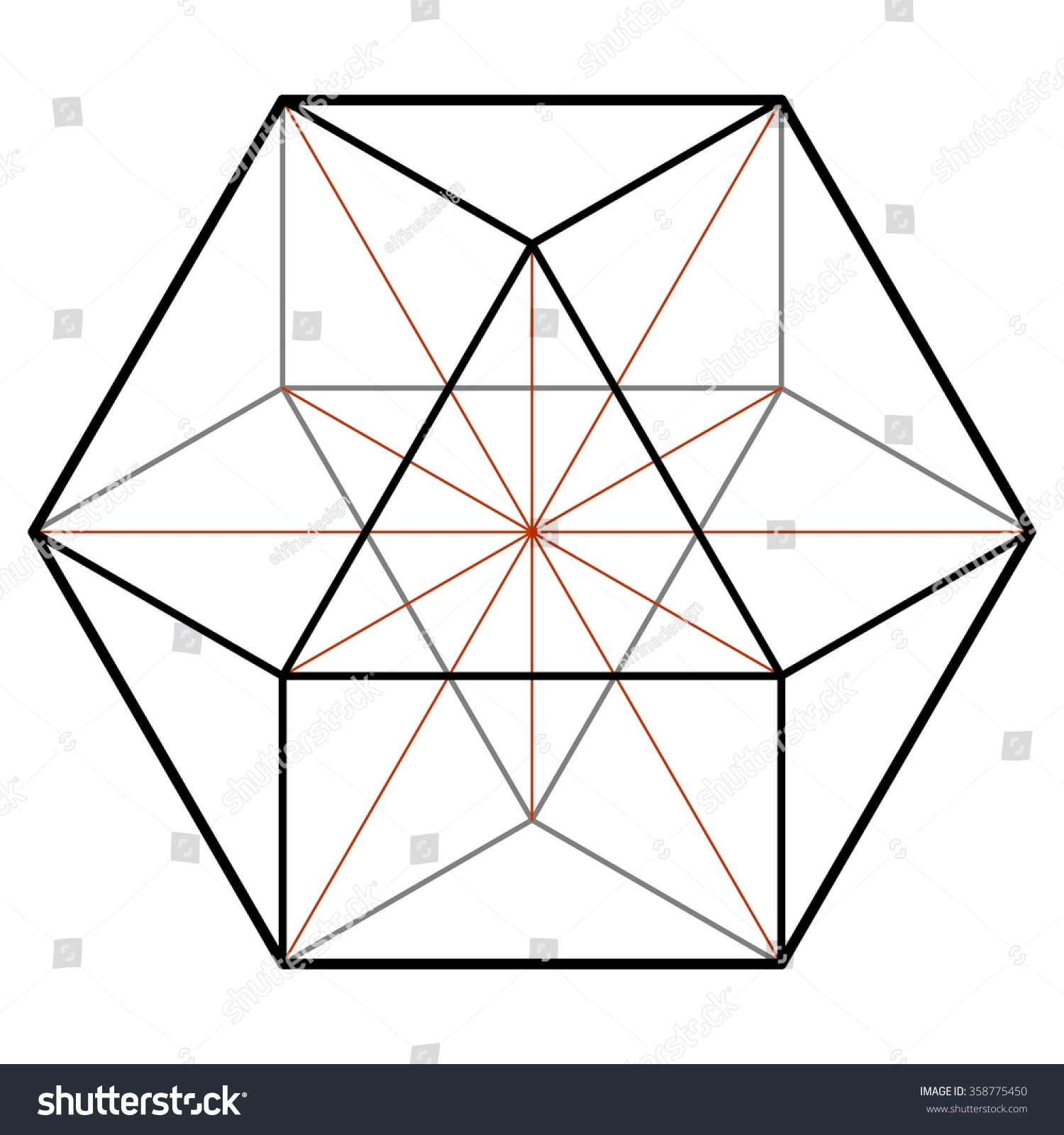cuboctahedron vector equilibrium sacred geometry platonic stock rh shutterstock com sacred geometry vectors royalty free vectors sacred geometry vector pack
