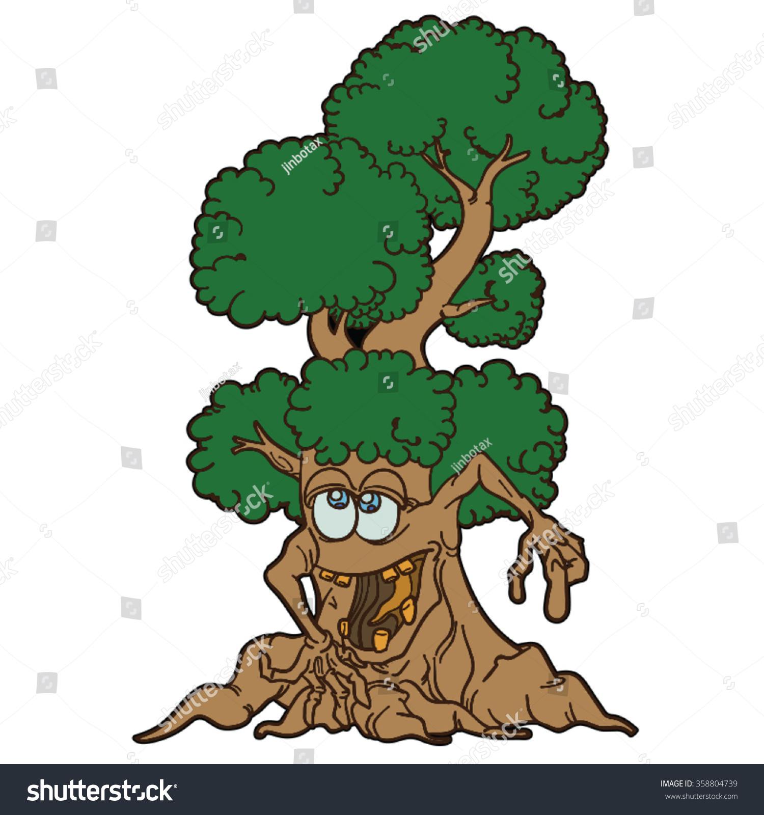 Monster Tree Cartoon Stock Vector Royalty Free 358804739 Ang god is that thorny tree monster terrifying! https www shutterstock com image vector monster tree cartoon 358804739