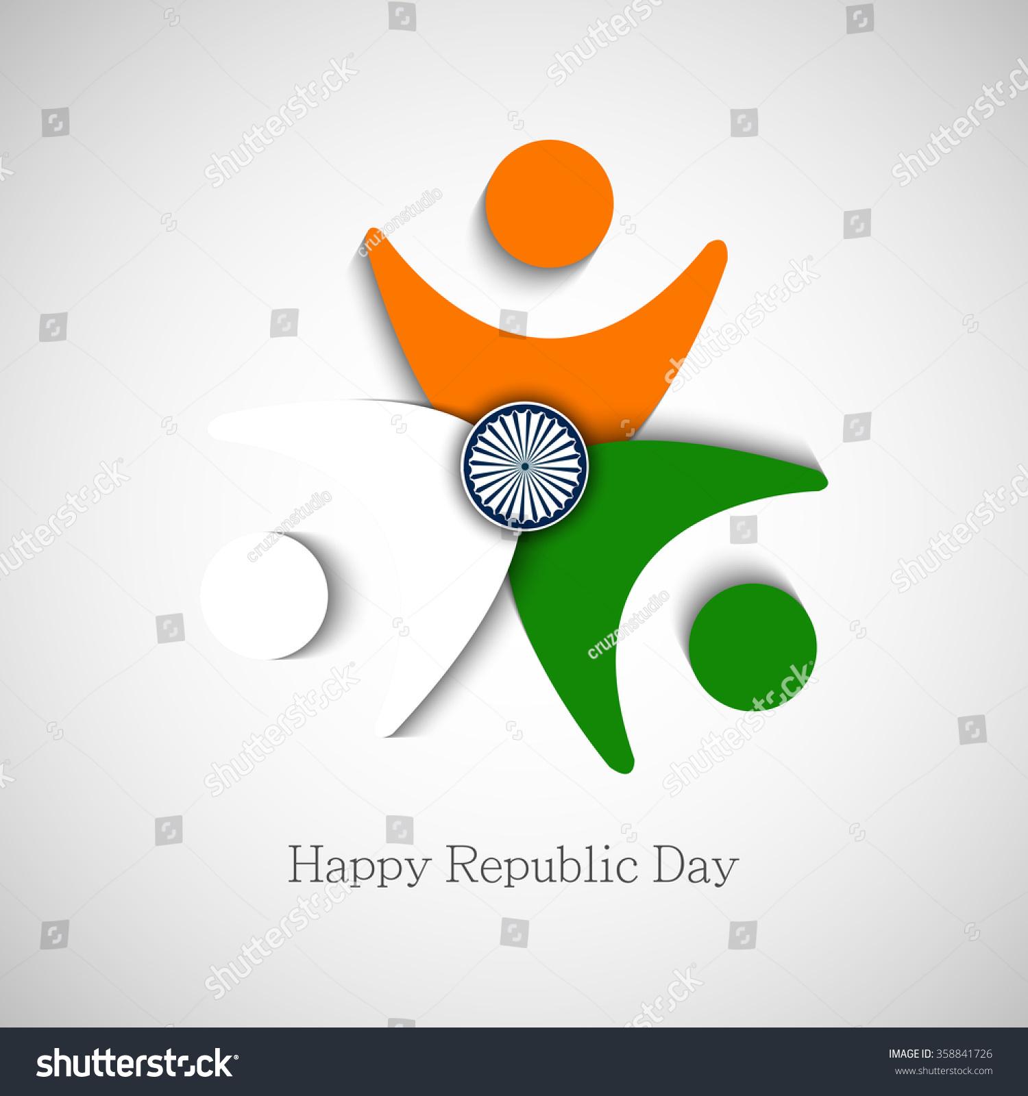 Vector Illustration Greeting Republic Day India Stock Vector