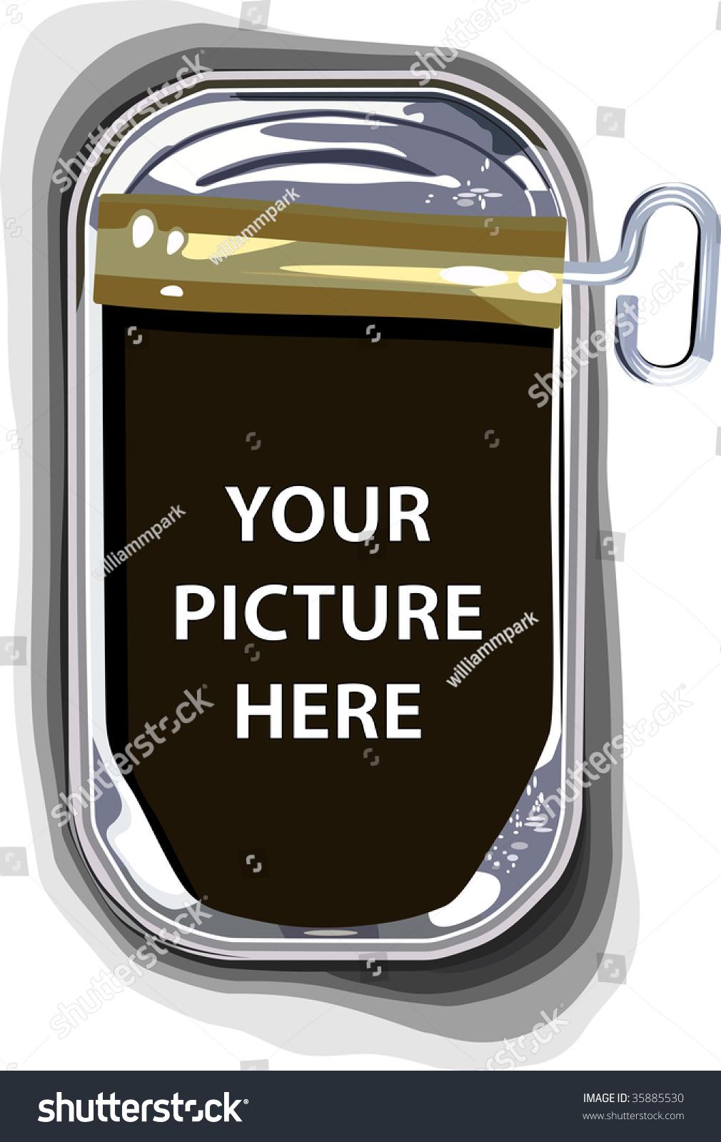 Empty sardine tin can stock vector illustration 35885530 Empty sardine cans