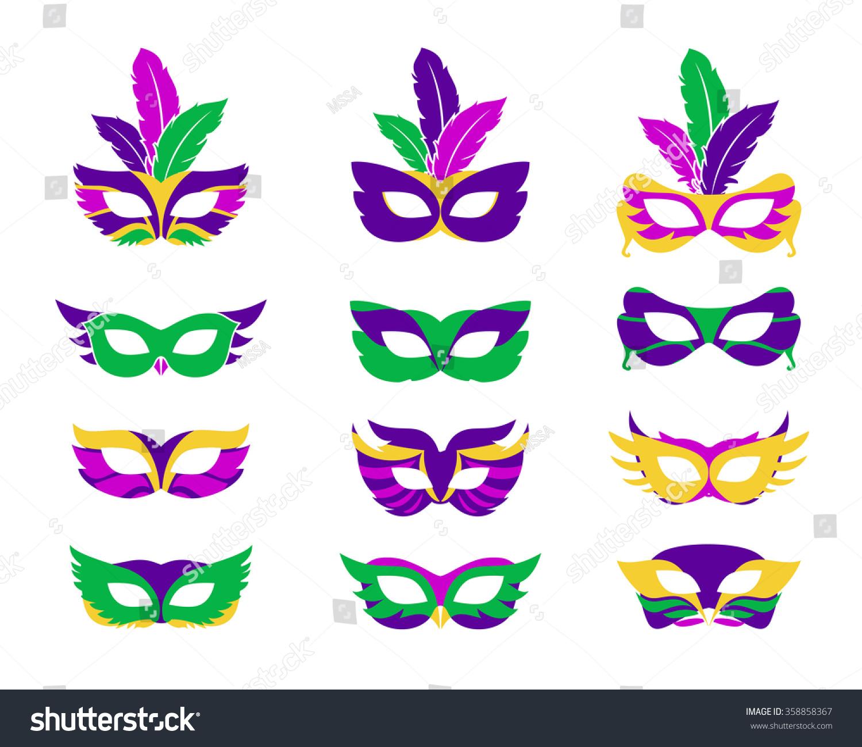 Mardi Gras Mask Vector Mardi Gras Vector de stock358858367: Shutterstock