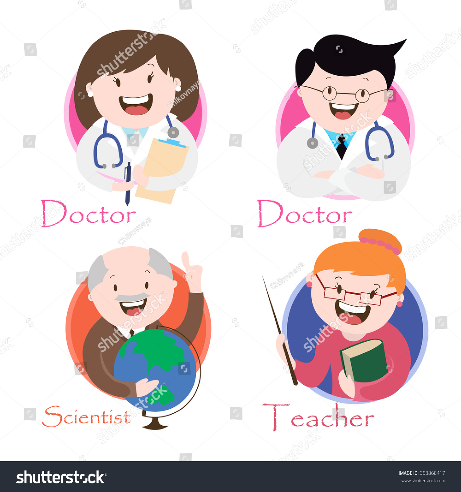 profession teacher doctor scientist vector graphics stock vector royalty free 358868417 https www shutterstock com image vector profession teacher doctor scientist vector graphics 358868417