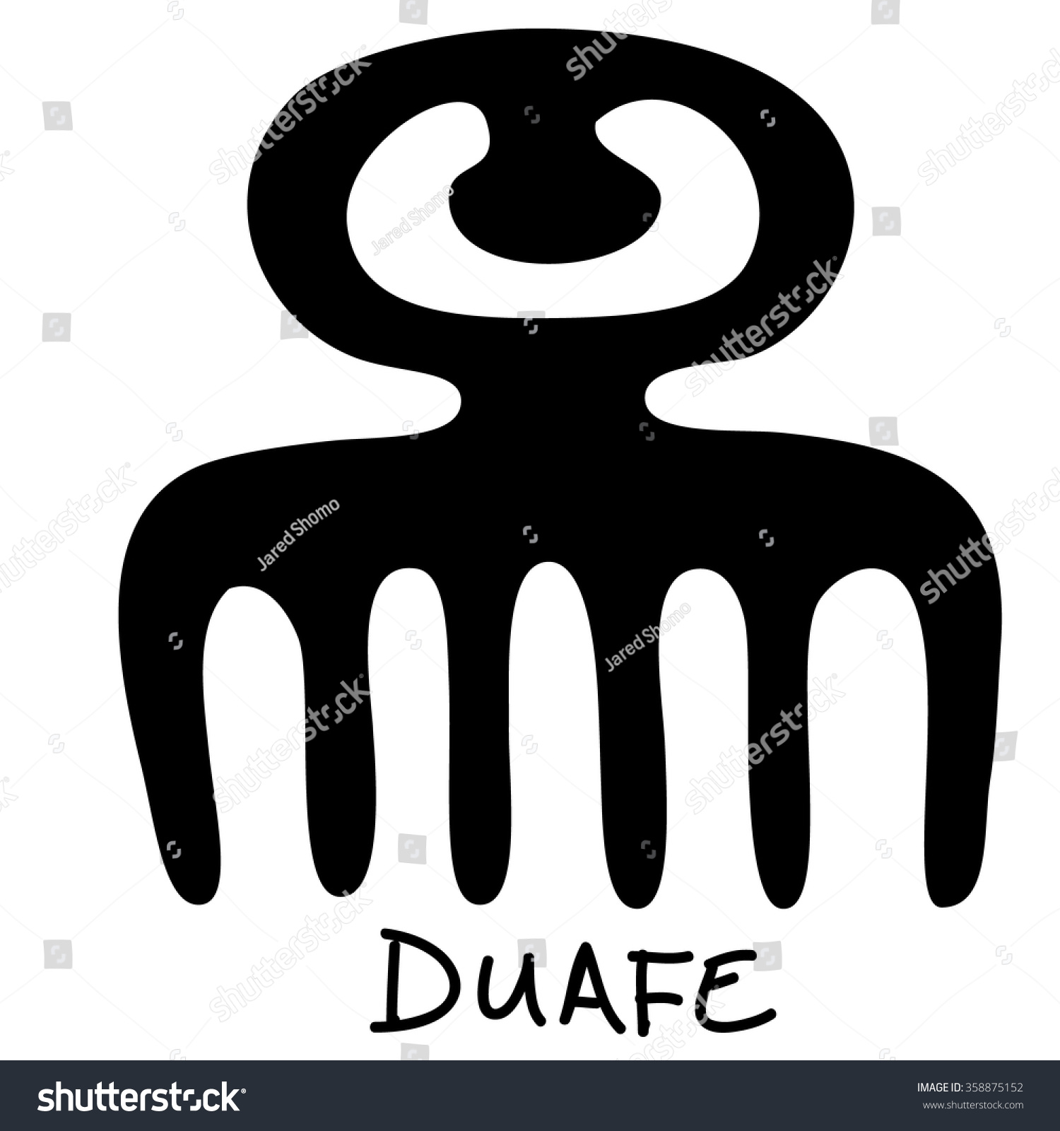 Adinkra symbol duafe meaning wooden comb stock vector 358875152 adinkra symbol duafe meaning the wooden comb and good feminine qualities biocorpaavc