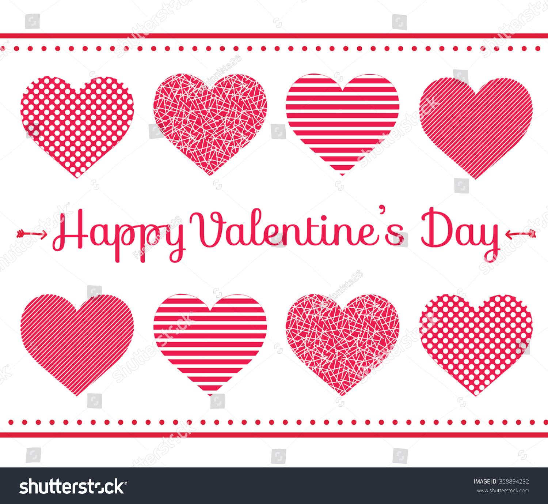Simple Design Valentine Card Background Hearts Illustration – Valentine Card Background