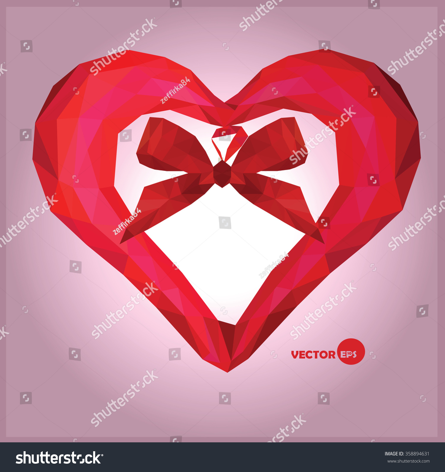 romantic background for valentines dayred origami heart on violet background valentines heart