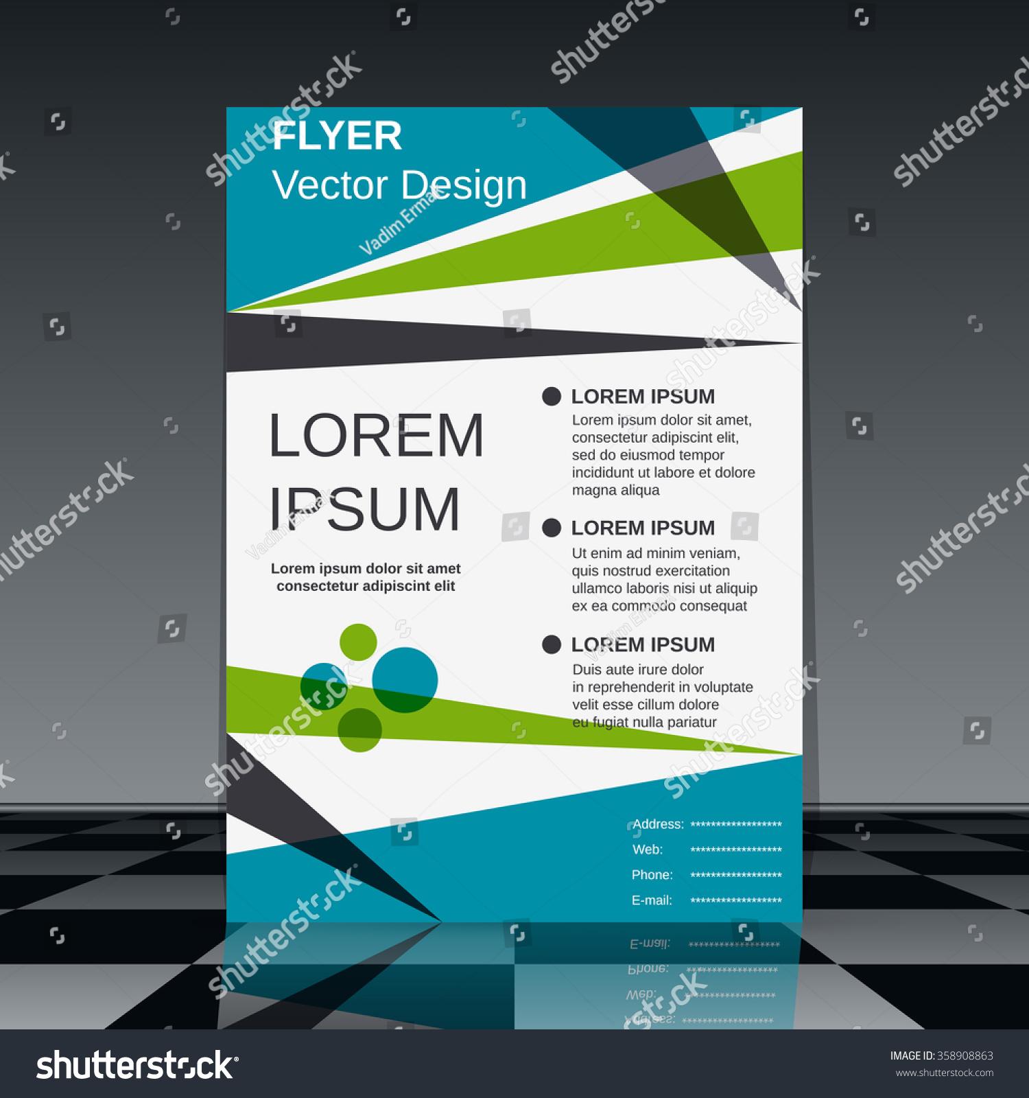 professional flyer design brochure mockup business stock vector professional flyer design brochure mockup business report magazine cover placard