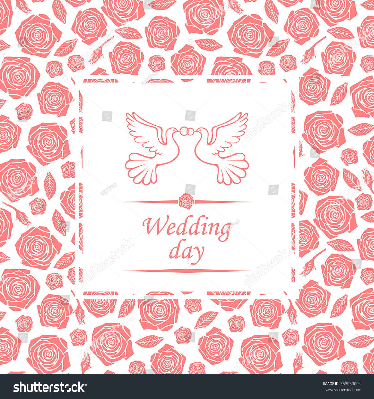 Vector Illustrations Wedding Day Card Greeting Stock Vector ...
