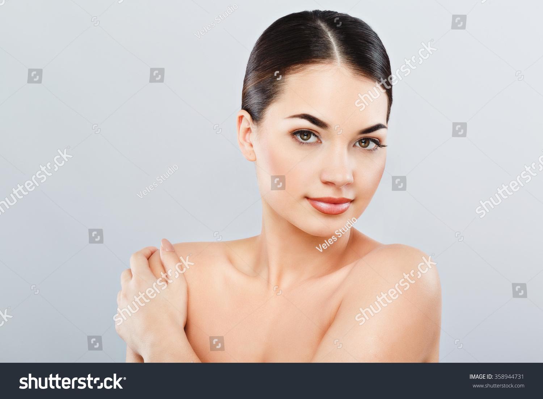 Pretty Girl Big Eyes Dark Eyebrows Stock Photo Edit Now 358944731