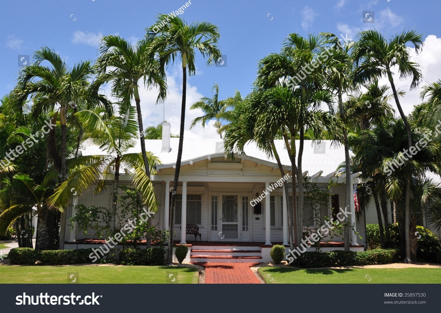 Key West Style Architecture Stock Photo 35897530