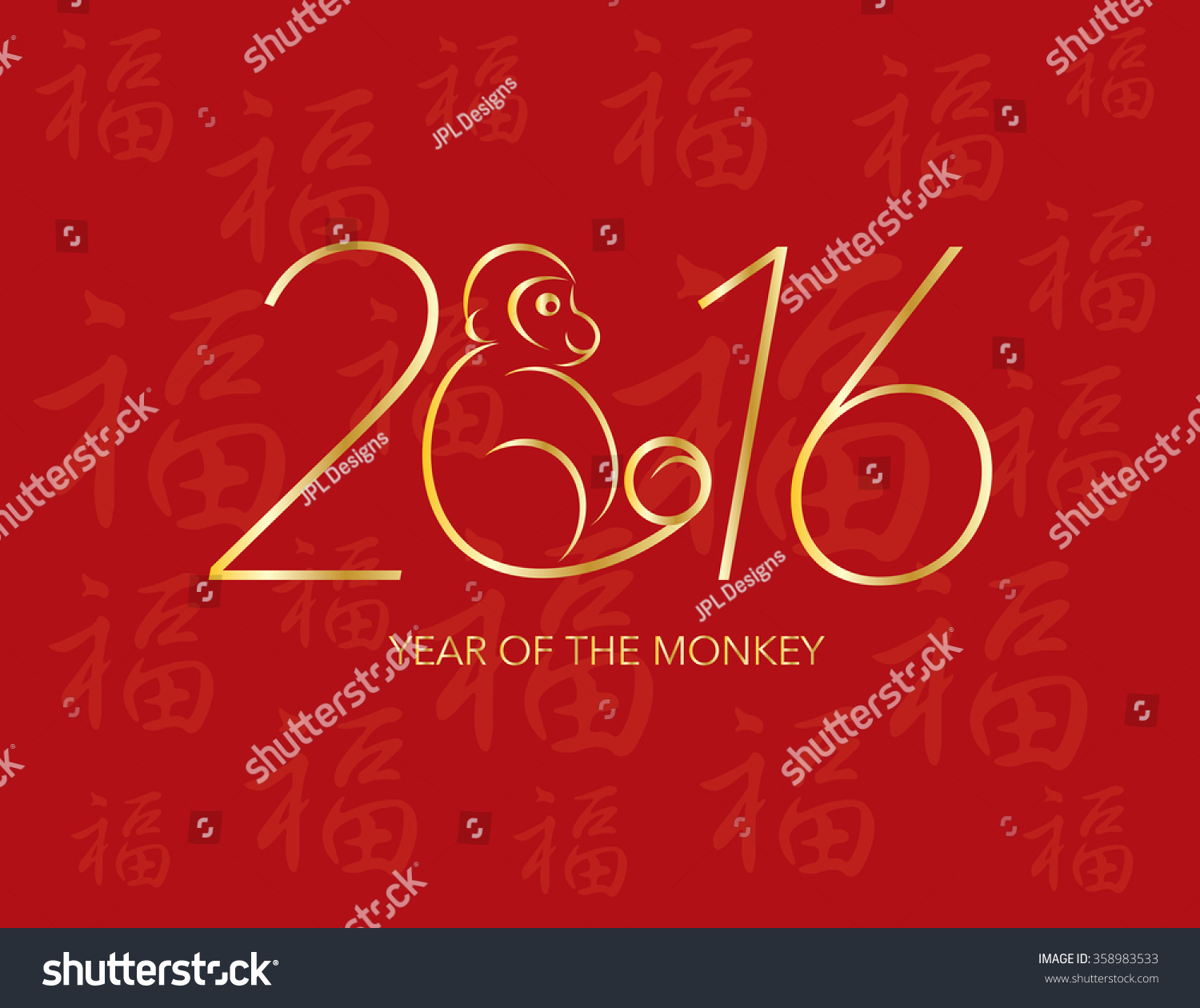 New Year S Line Art : Chinese new year monkey numerals stock vector