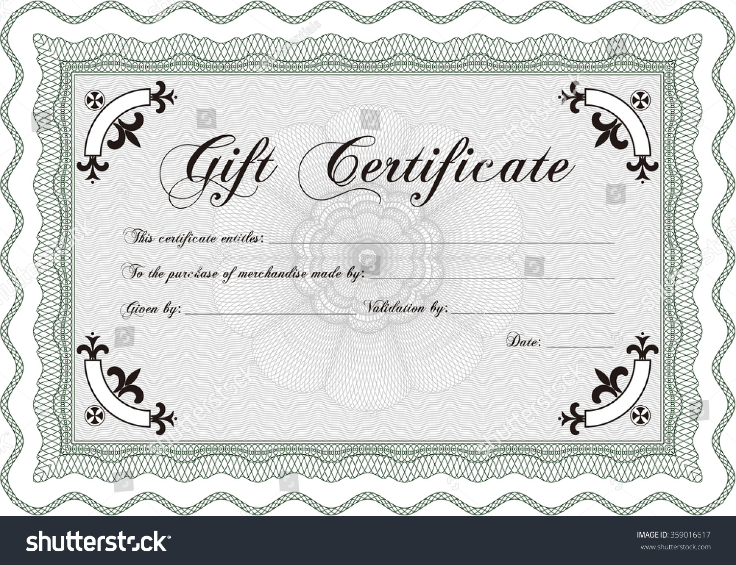 Gift certificate template customizable easy edit stock for Customizable certificate template