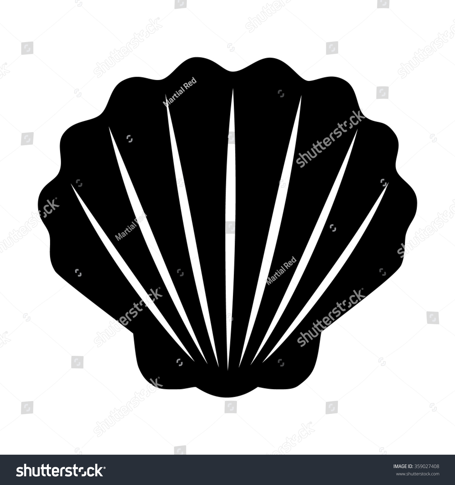 Seashell / Shellfish Flat Icon For Apps And Websites Stock ...