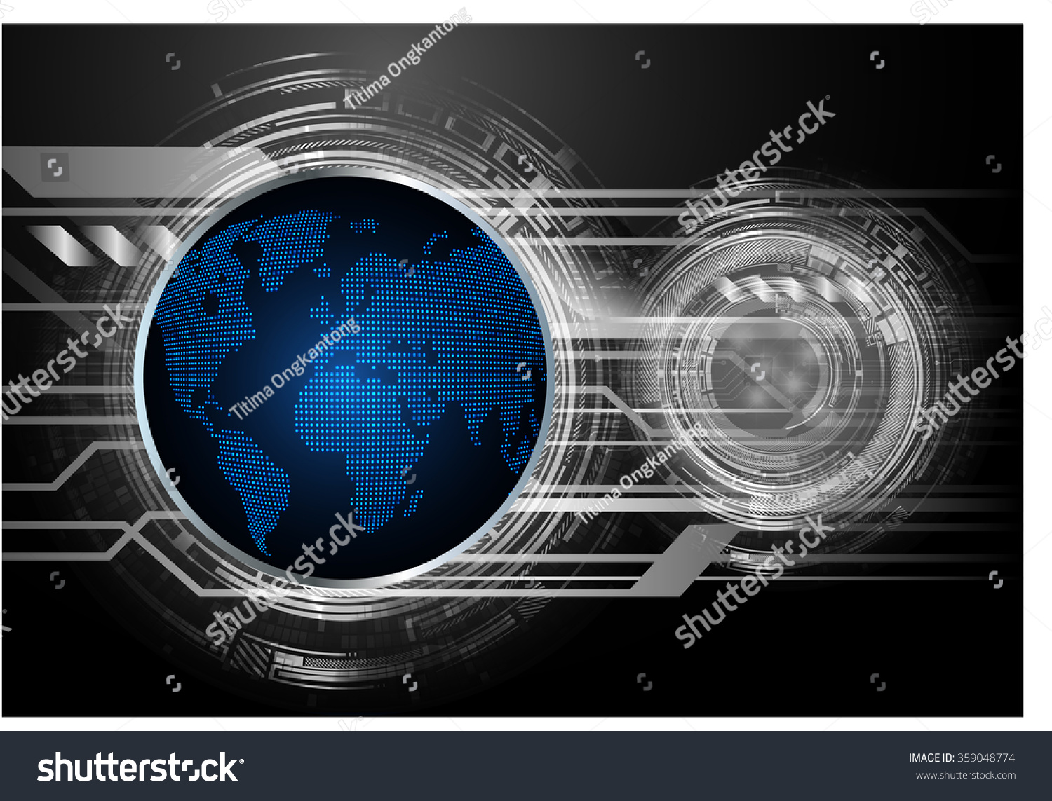 Dark blue black light abstract technology stock vector 359048774 dark blue black light abstract technology background for computer graphic website internet and businessrcuit gumiabroncs Images