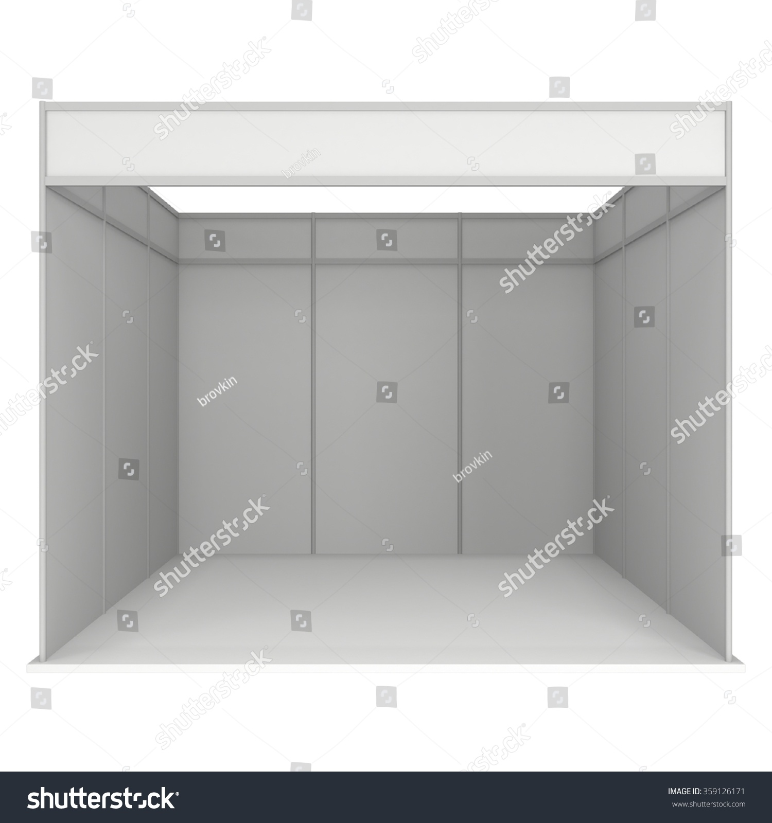 Exhibition Booth Template : Trade show booth white blank stock illustration